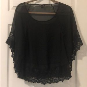 Sheer Tunic Lace Detail - Small